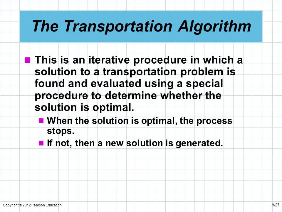The Transportation Algorithm