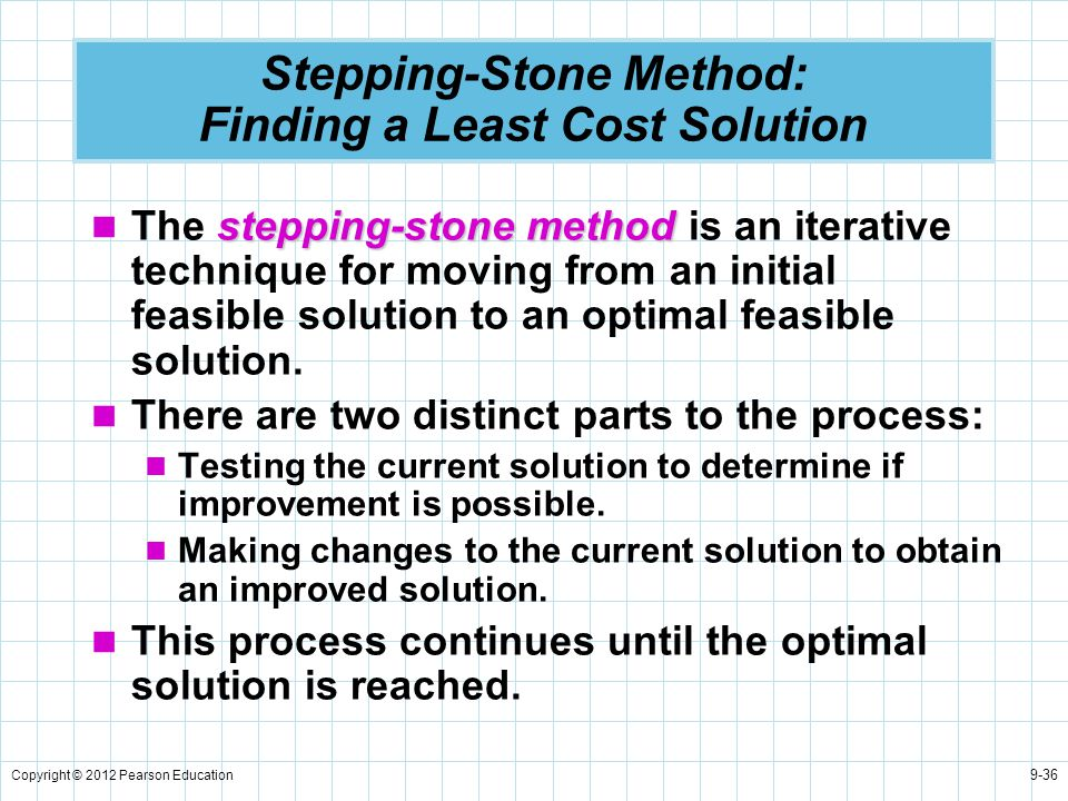 Stepping-Stone Method: Finding a Least Cost Solution