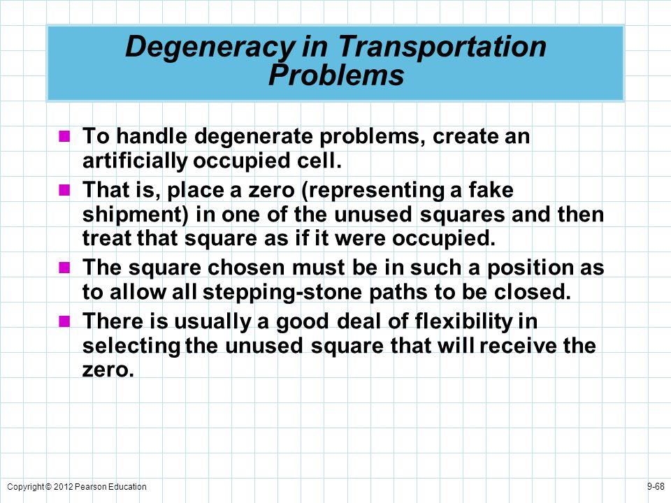 Degeneracy in Transportation Problems