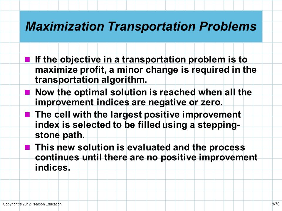 Maximization Transportation Problems