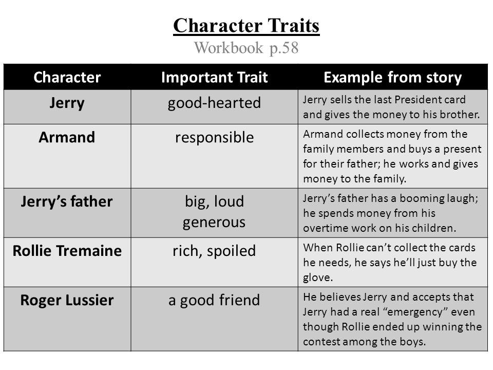 Character Traits Workbook p.58
