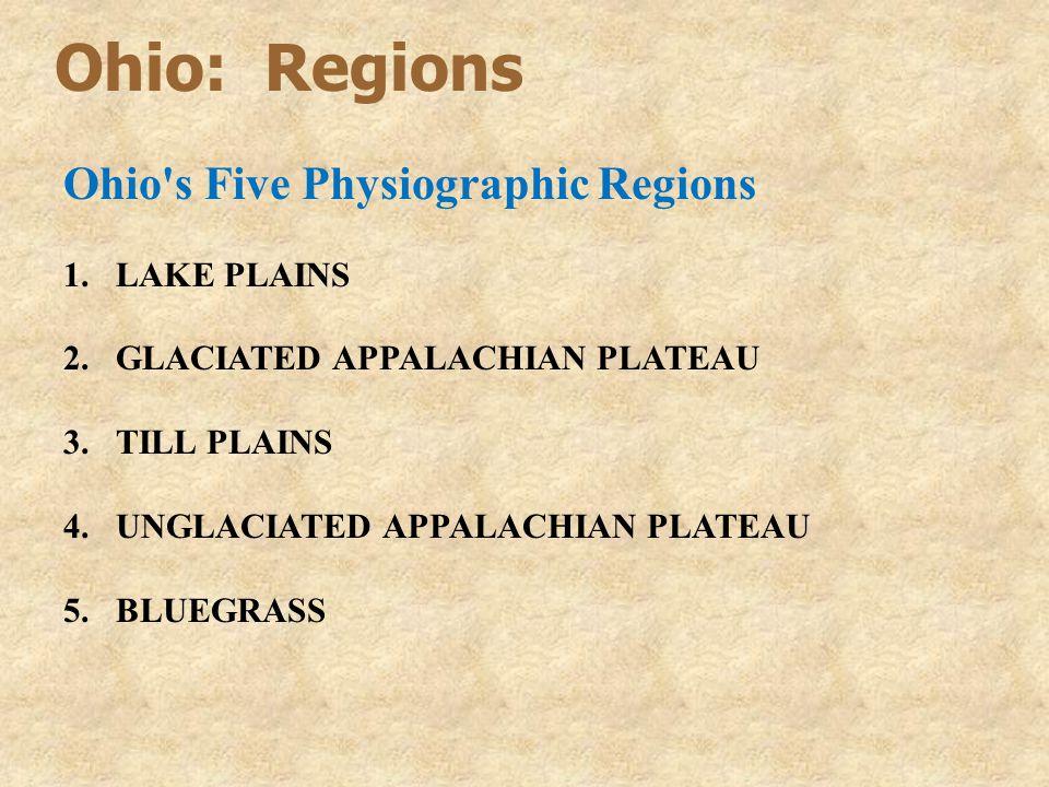 Ohio: Regions Ohio s Five Physiographic Regions LAKE PLAINS