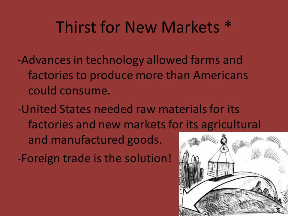 Thirst for New Markets *