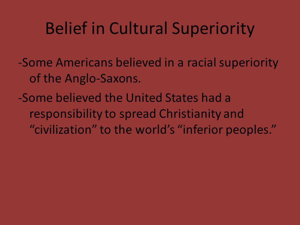 Belief in Cultural Superiority
