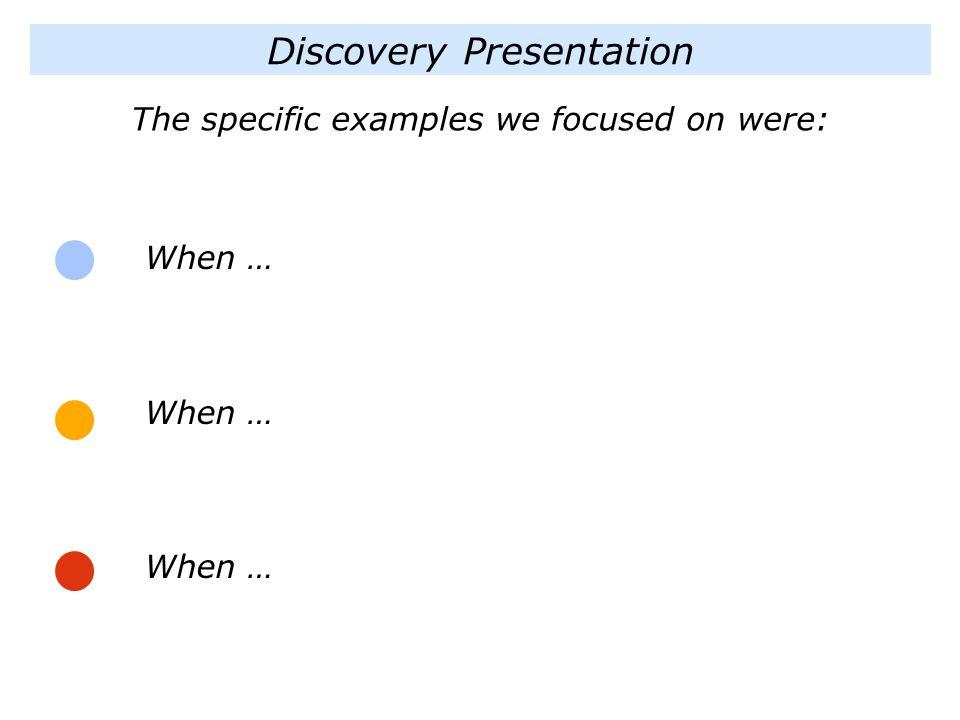 Discovery Presentation