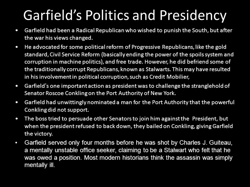 Garfield's Politics and Presidency
