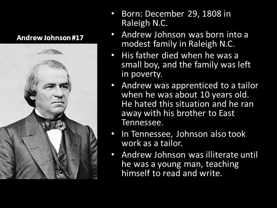 Born: December 29, 1808 in Raleigh N.C.