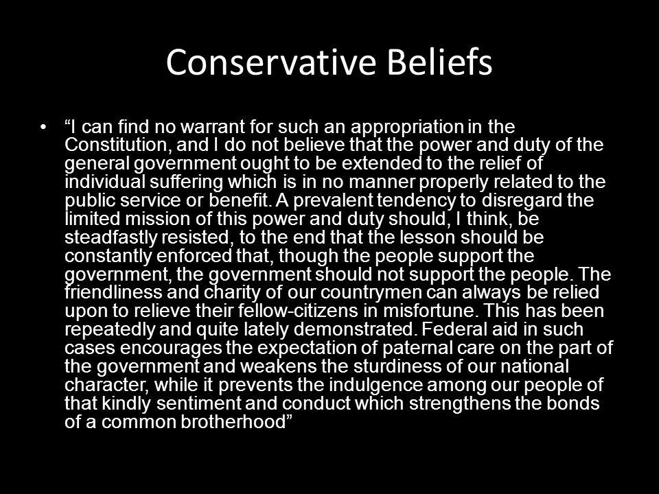 Conservative Beliefs