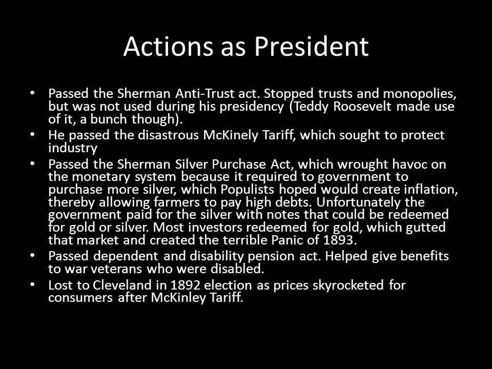 Actions as President