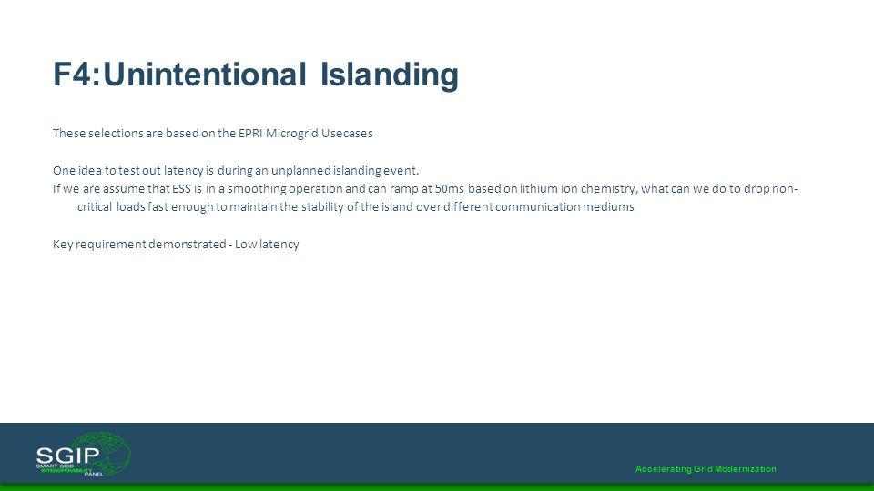 F4:Unintentional Islanding