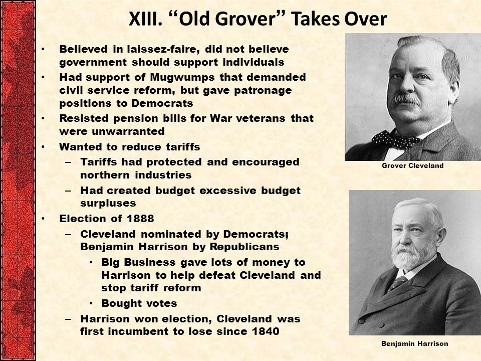 XIII. Old Grover Takes Over