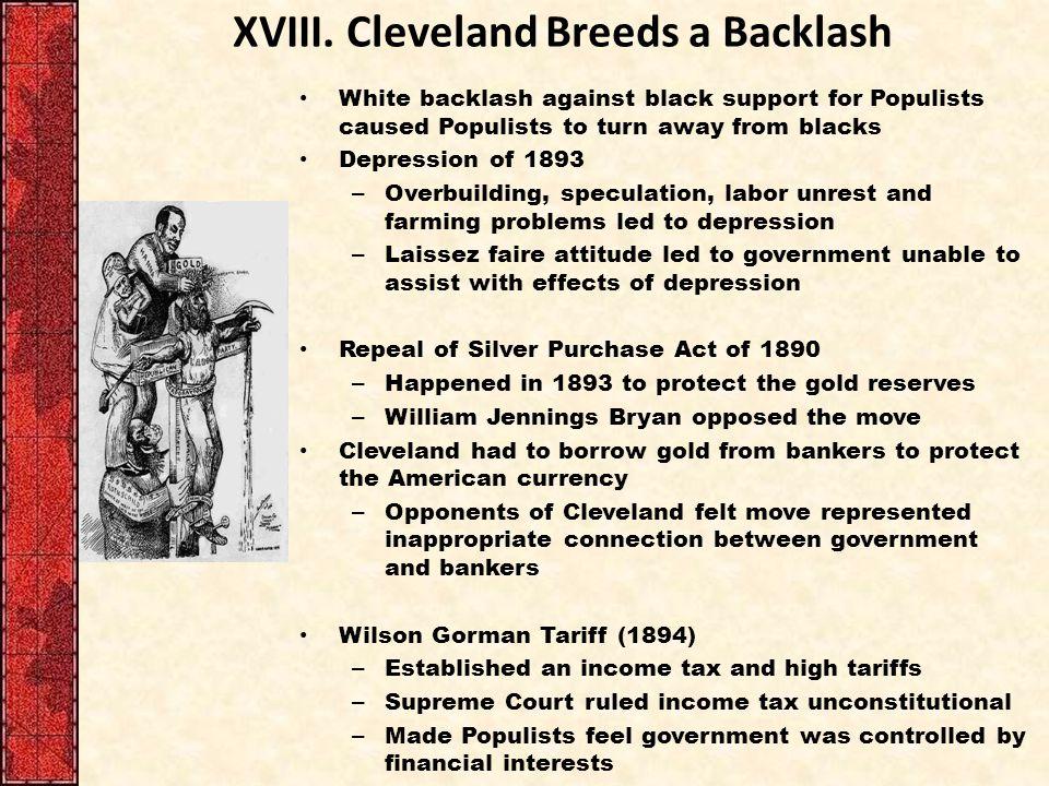 XVIII. Cleveland Breeds a Backlash