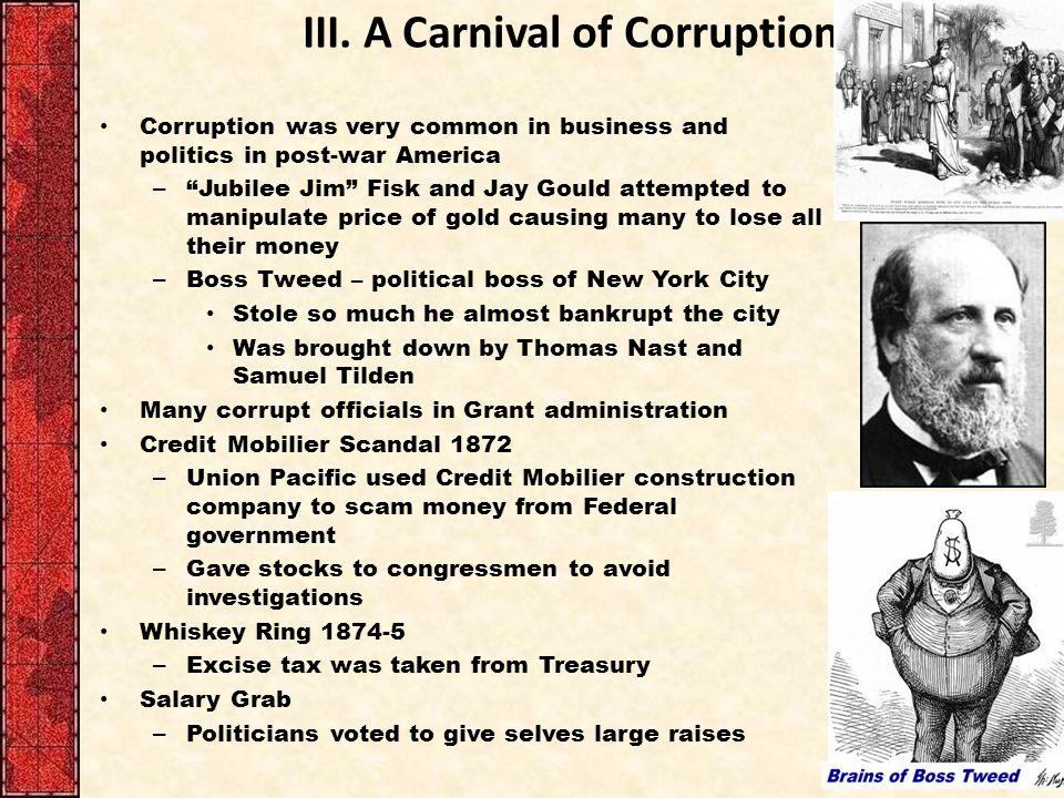III. A Carnival of Corruption