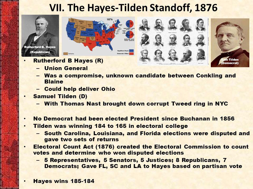 VII. The Hayes-Tilden Standoff, 1876