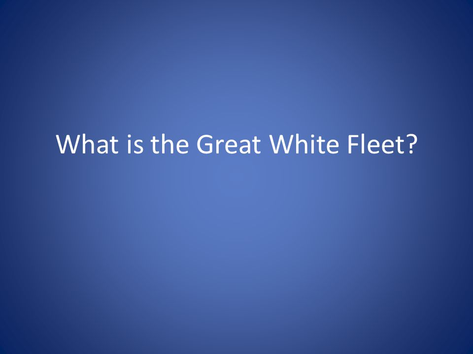 What is the Great White Fleet