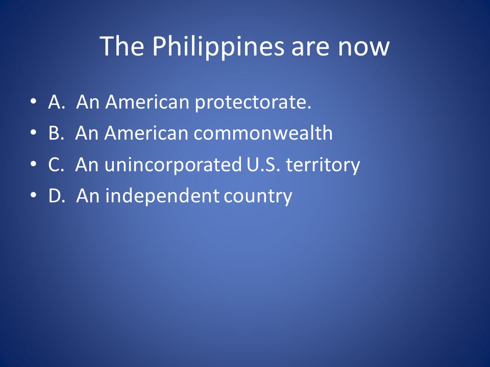 The Philippines are now