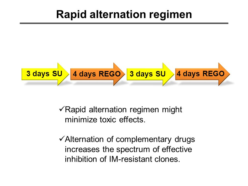Rapid alternation regimen