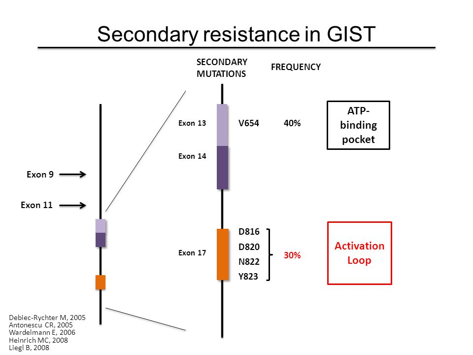 Secondary resistance in GIST
