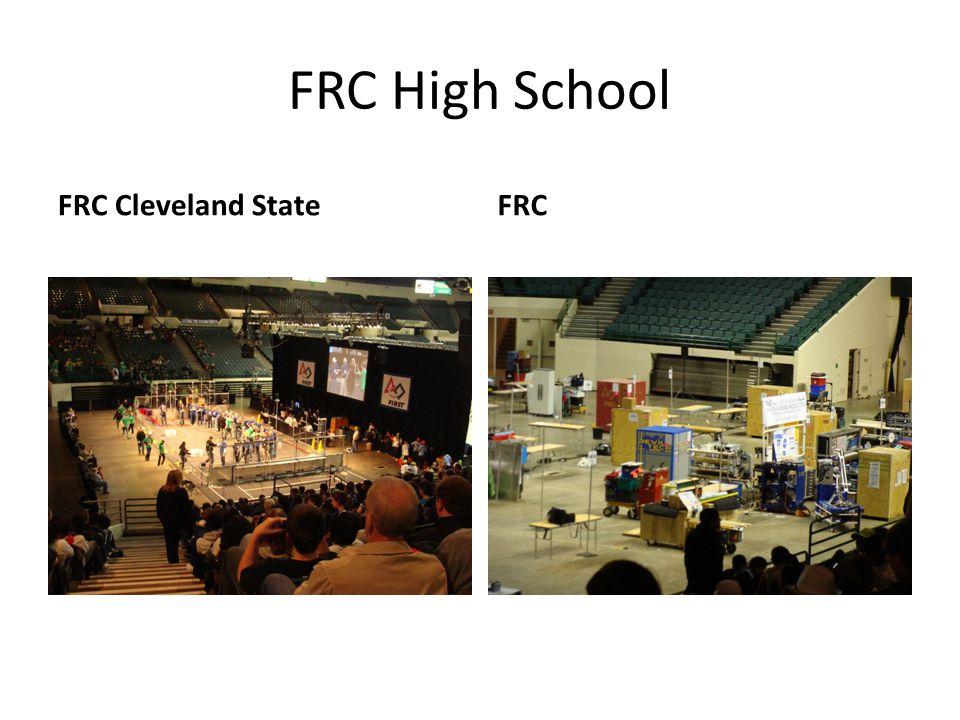 FRC High School FRC Cleveland State FRC Nadine