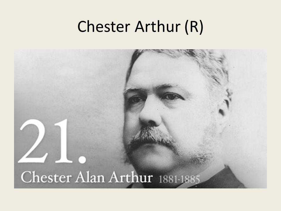 Chester Arthur (R)