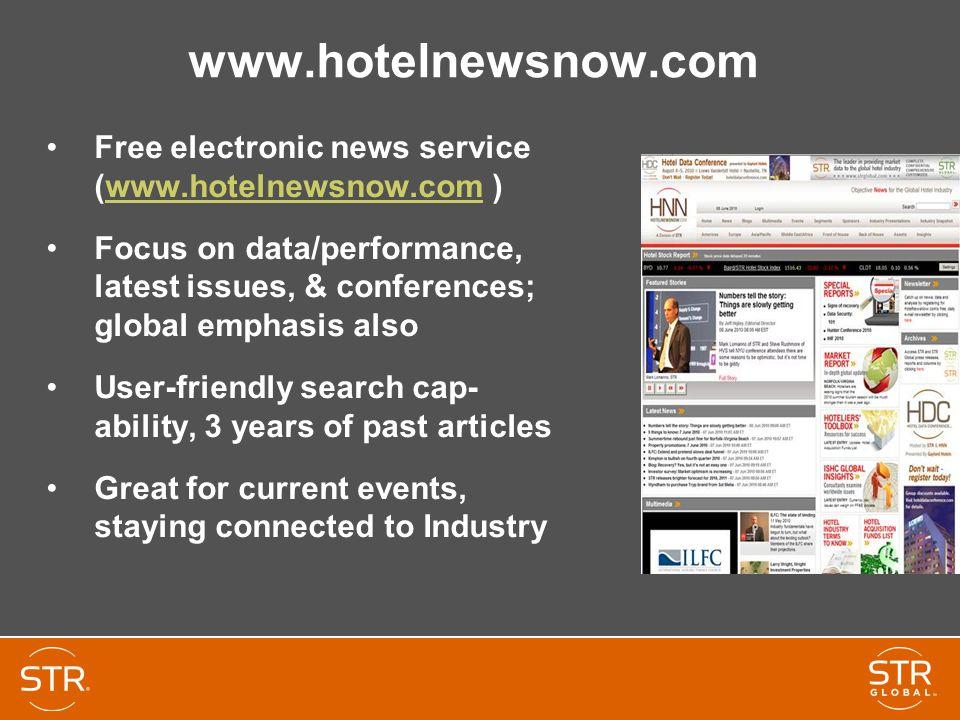 www.hotelnewsnow.com Free electronic news service (www.hotelnewsnow.com )