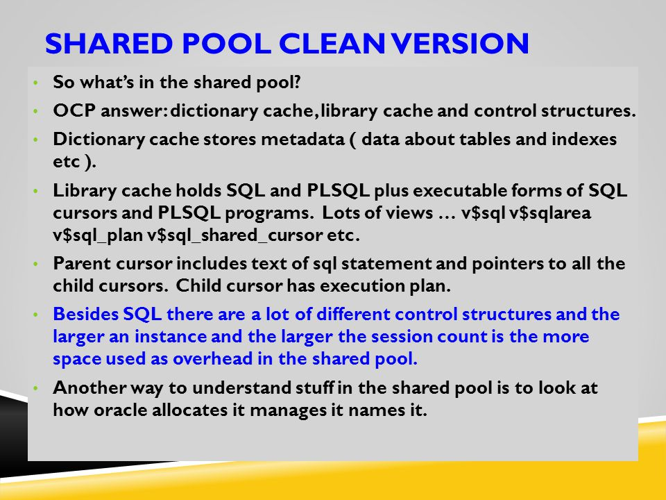 Shared pool CLEAN VERSION