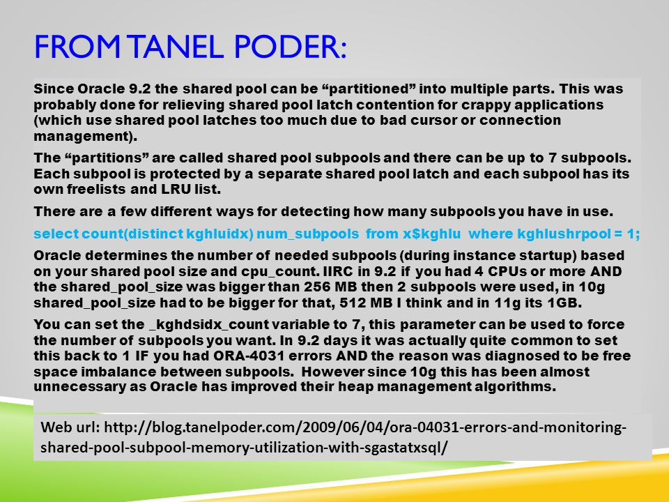 from Tanel Poder: