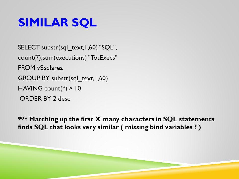 Similar SQL