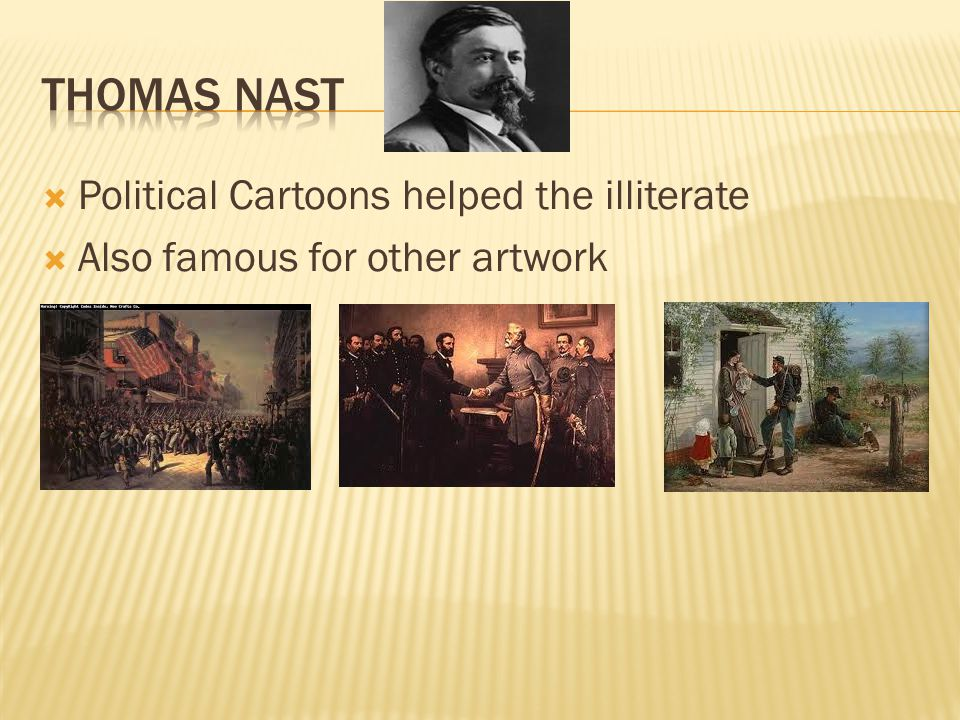 Thomas Nast Political Cartoons helped the illiterate
