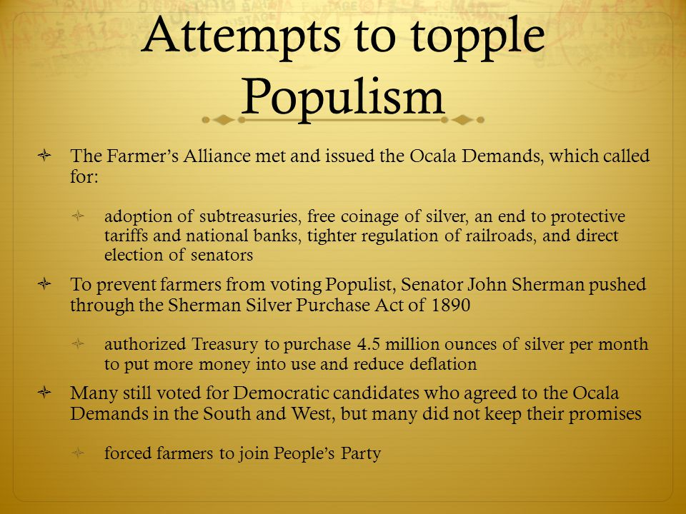 Attempts to topple Populism
