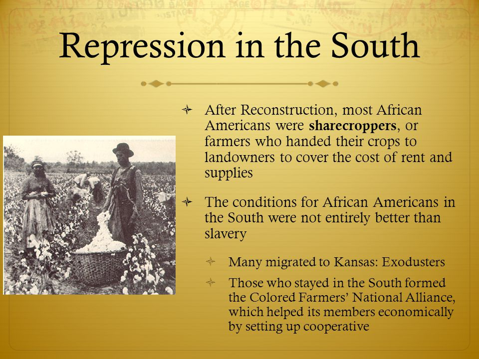 Repression in the South