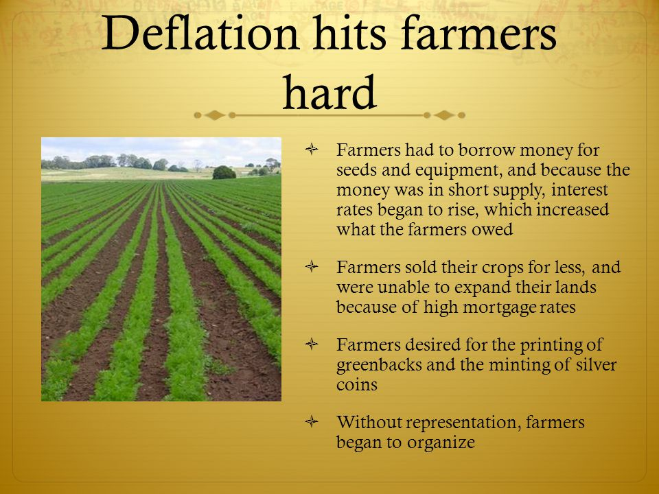 Deflation hits farmers hard