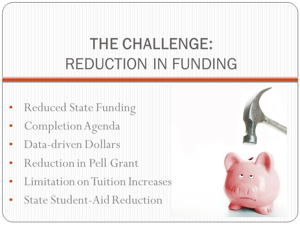 THE CHALLENGE: REDUCTION IN FUNDING