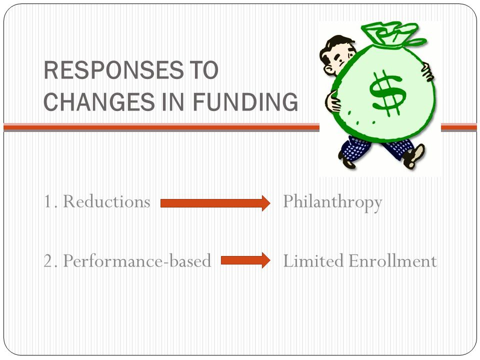 RESPONSES TO CHANGES IN FUNDING