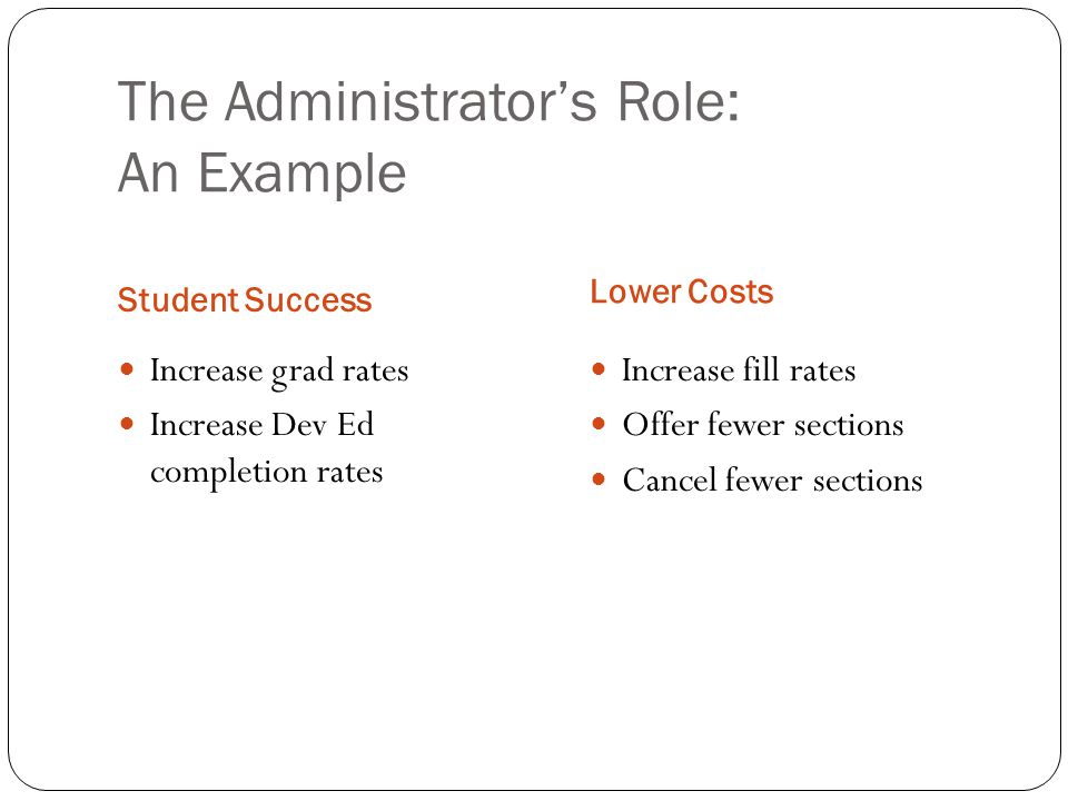 The Administrator's Role: An Example