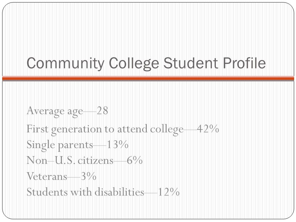 Community College Student Profile