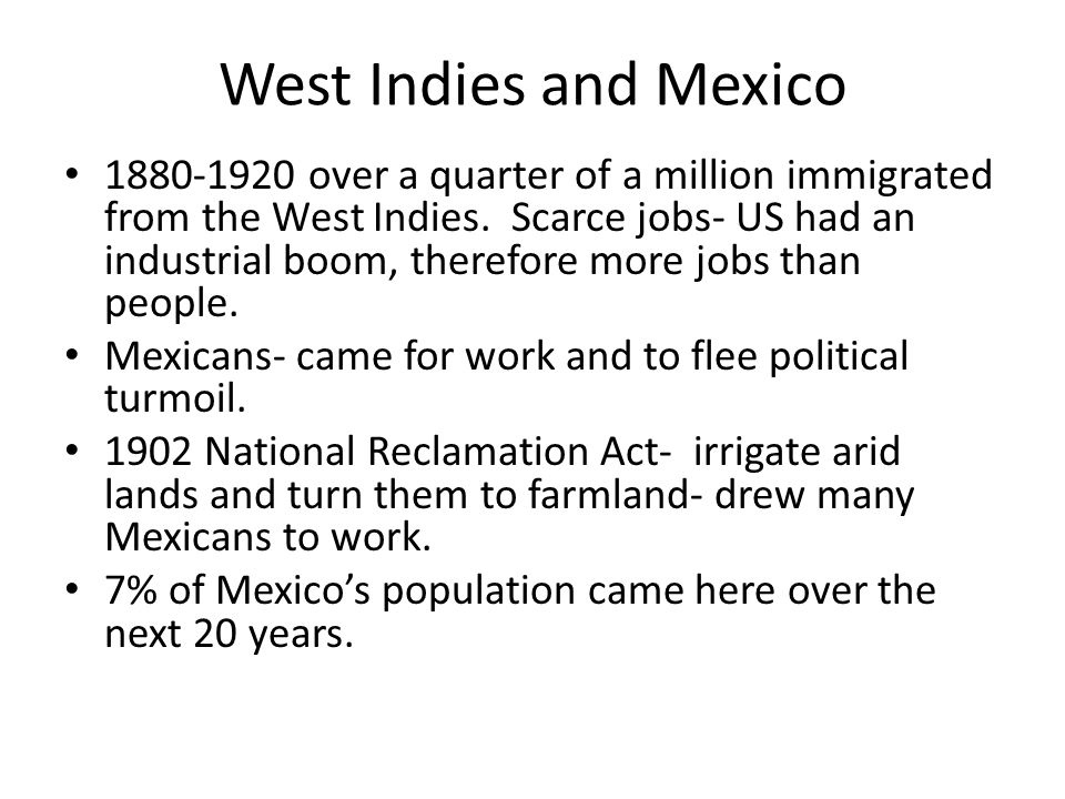 West Indies and Mexico