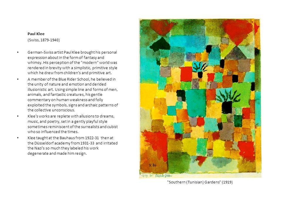 Paul Klee (Swiss, 1879-1940)