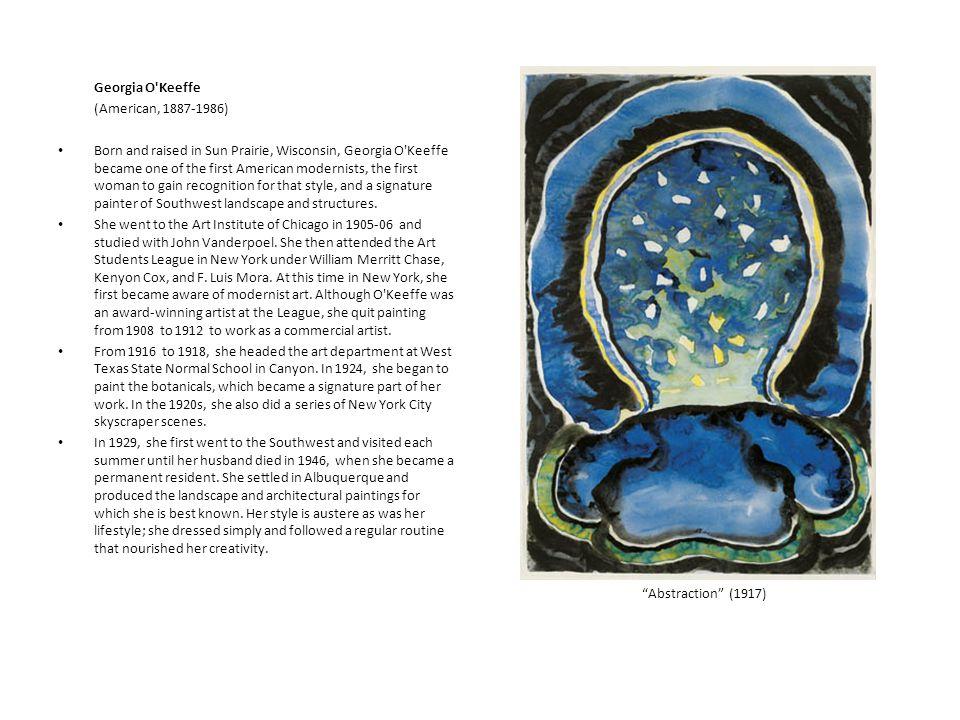 Georgia O Keeffe (American, 1887-1986)