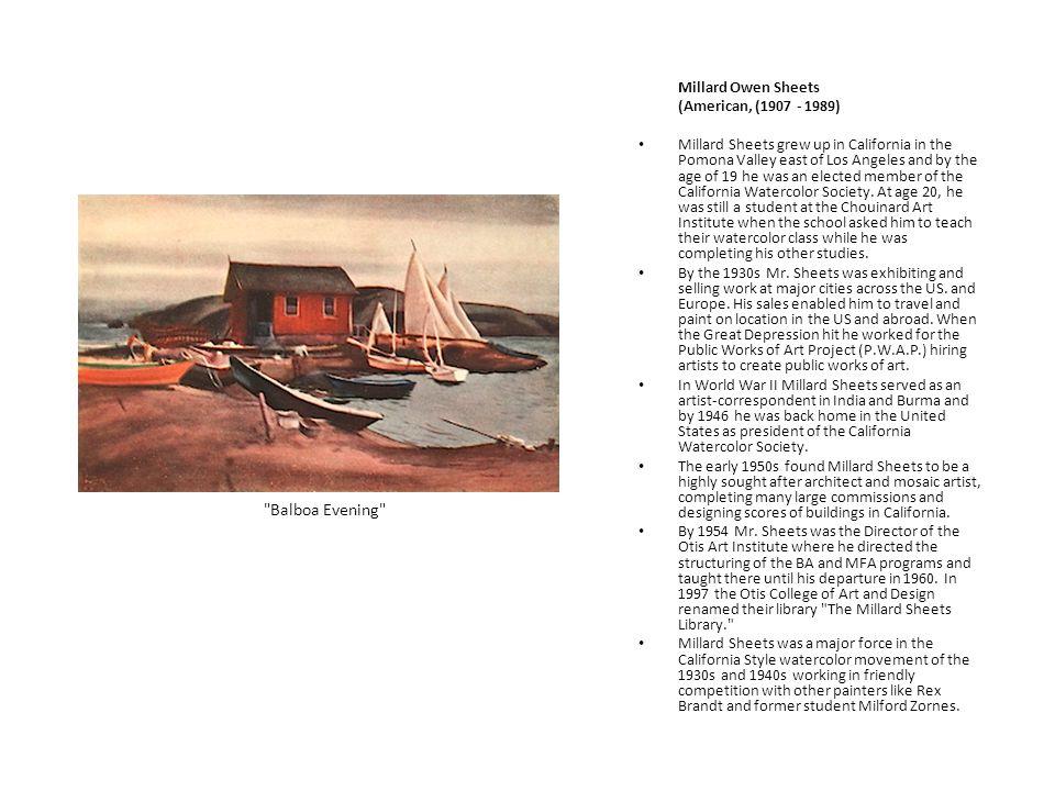 Balboa Evening Millard Owen Sheets (American, (1907 - 1989)