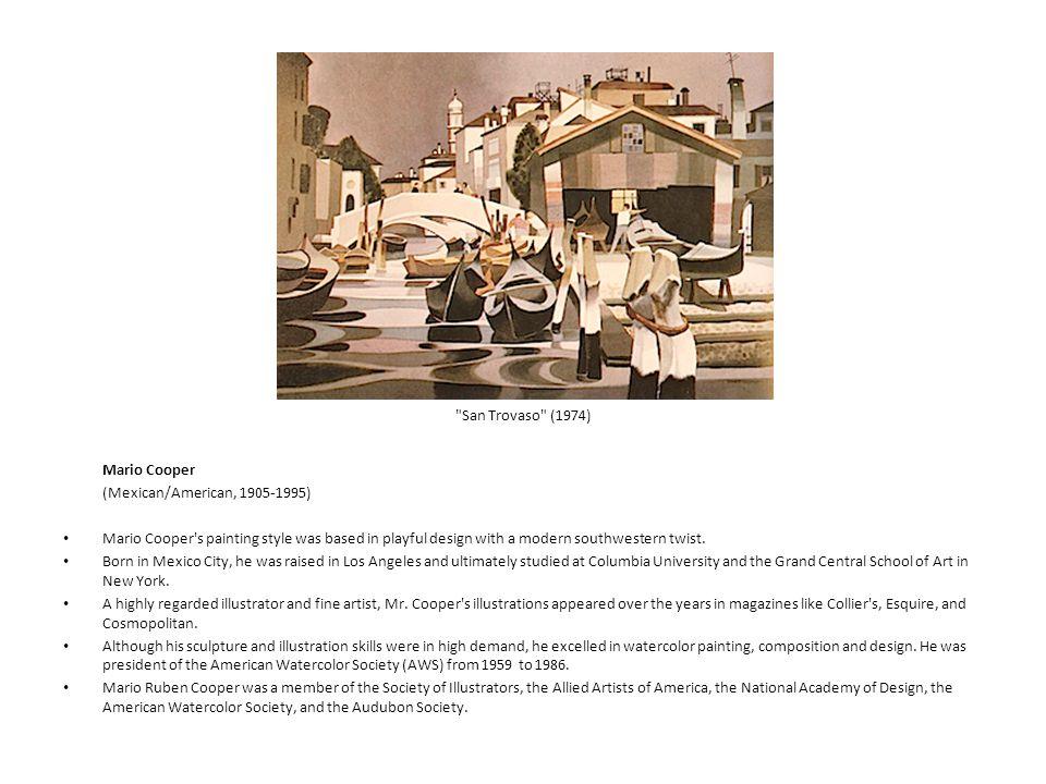 San Trovaso (1974) Mario Cooper (Mexican/American, 1905-1995)
