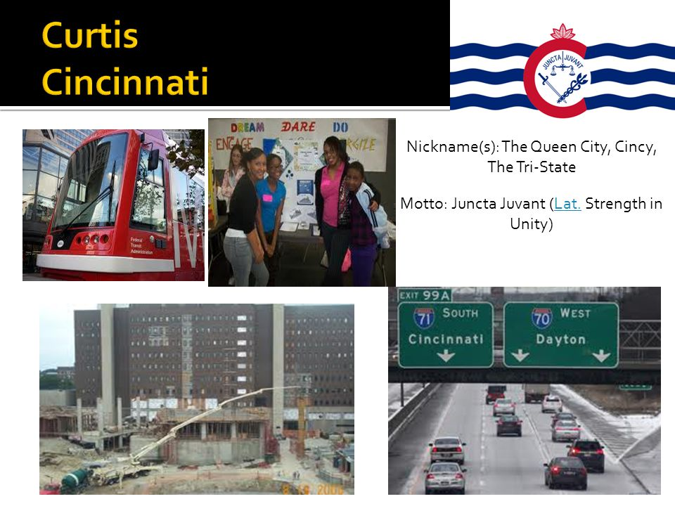 Curtis Cincinnati Nickname(s): The Queen City, Cincy, The Tri-State
