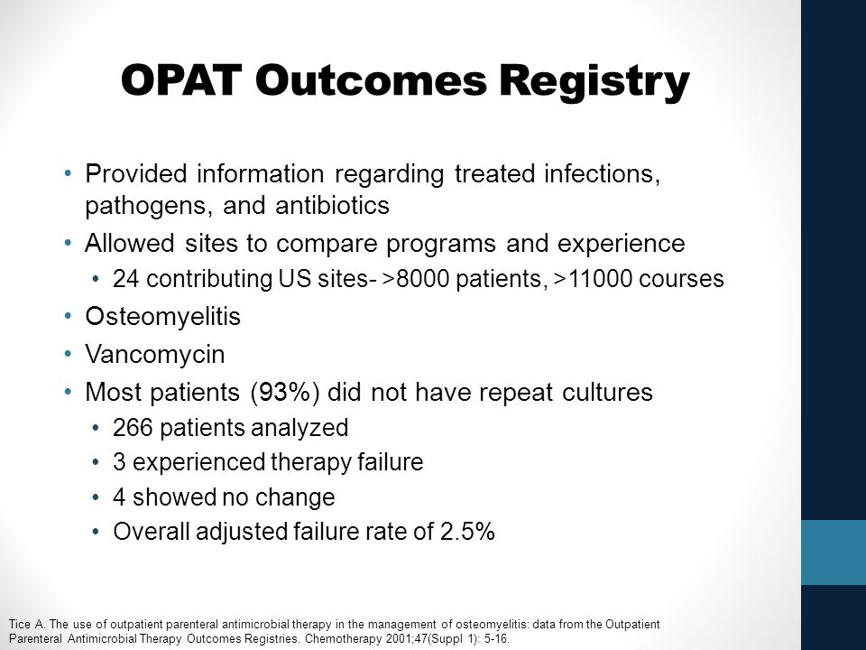 OPAT Outcomes Registry