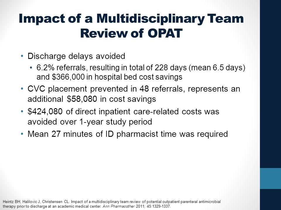 Impact of a Multidisciplinary Team Review of OPAT