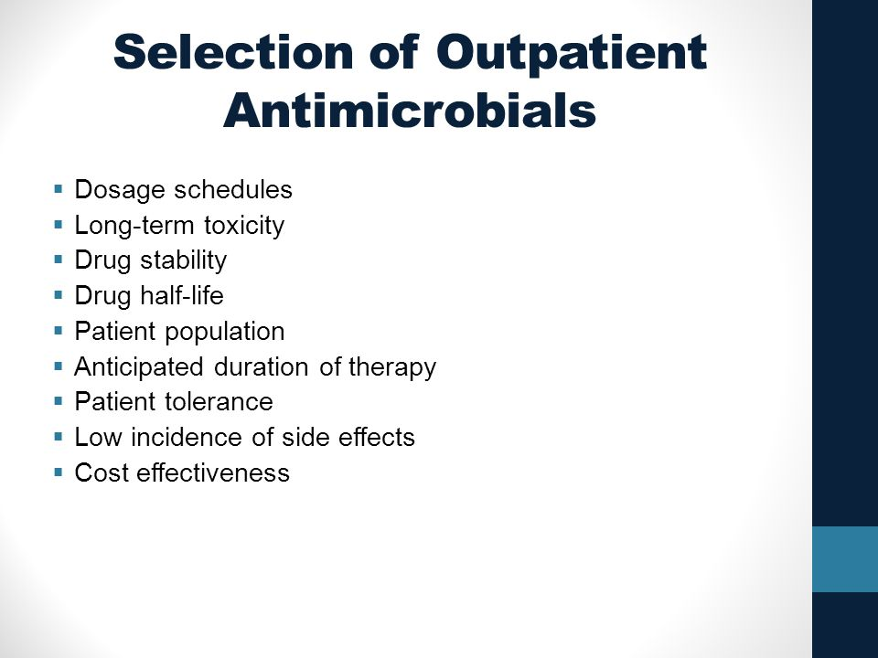 Selection of Outpatient Antimicrobials