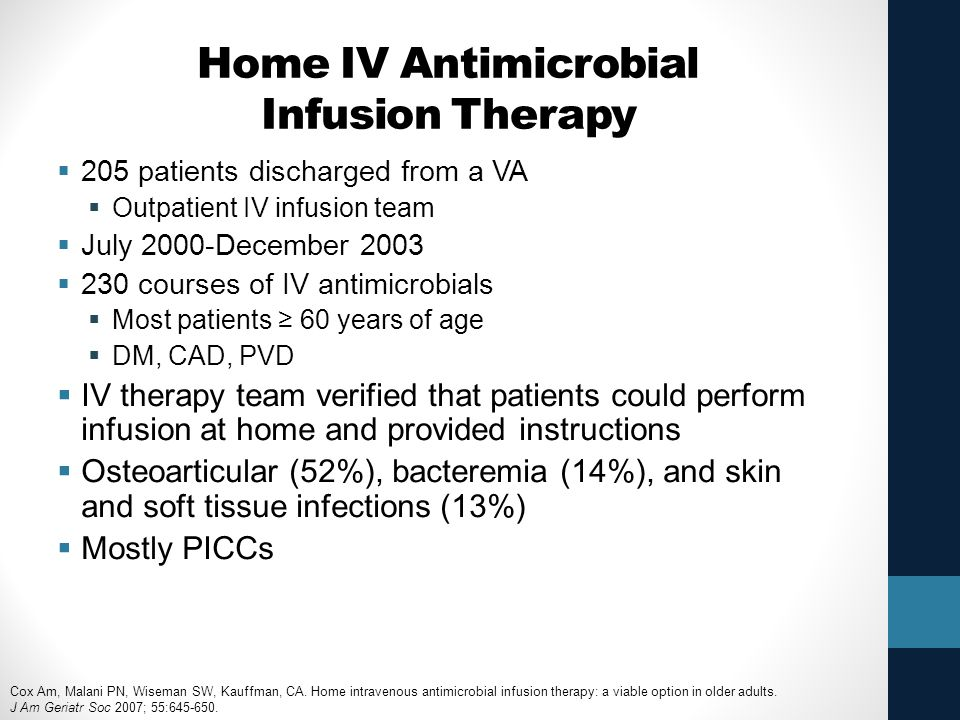 Home IV Antimicrobial Infusion Therapy