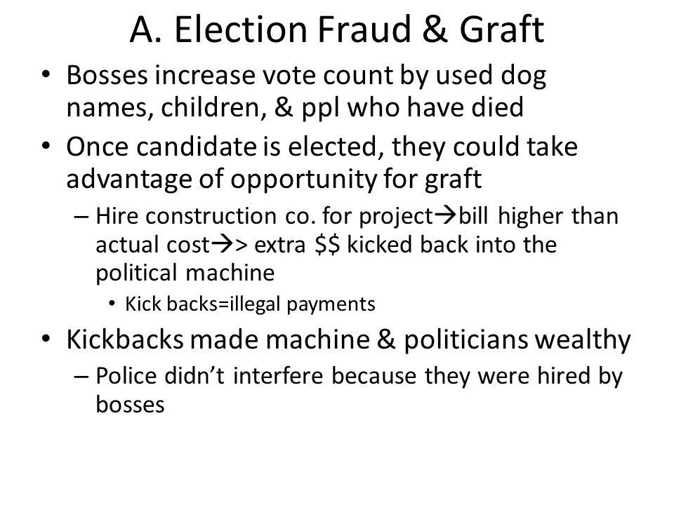 A. Election Fraud & Graft