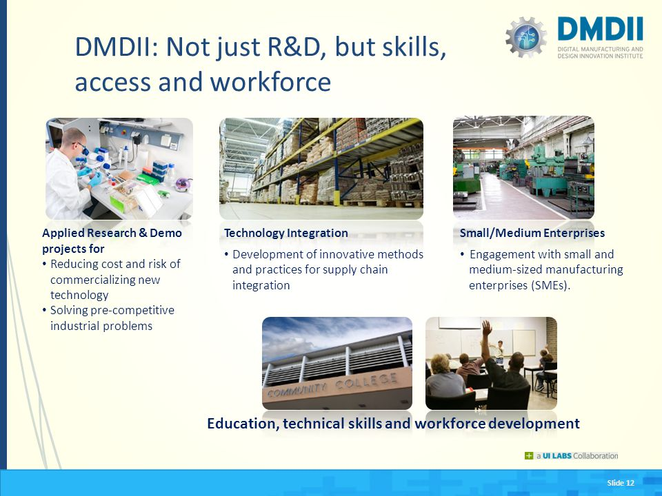 DMDII: Not just R&D, but skills, access and workforce