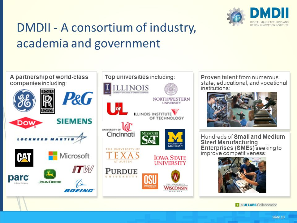 DMDII - A consortium of industry, academia and government