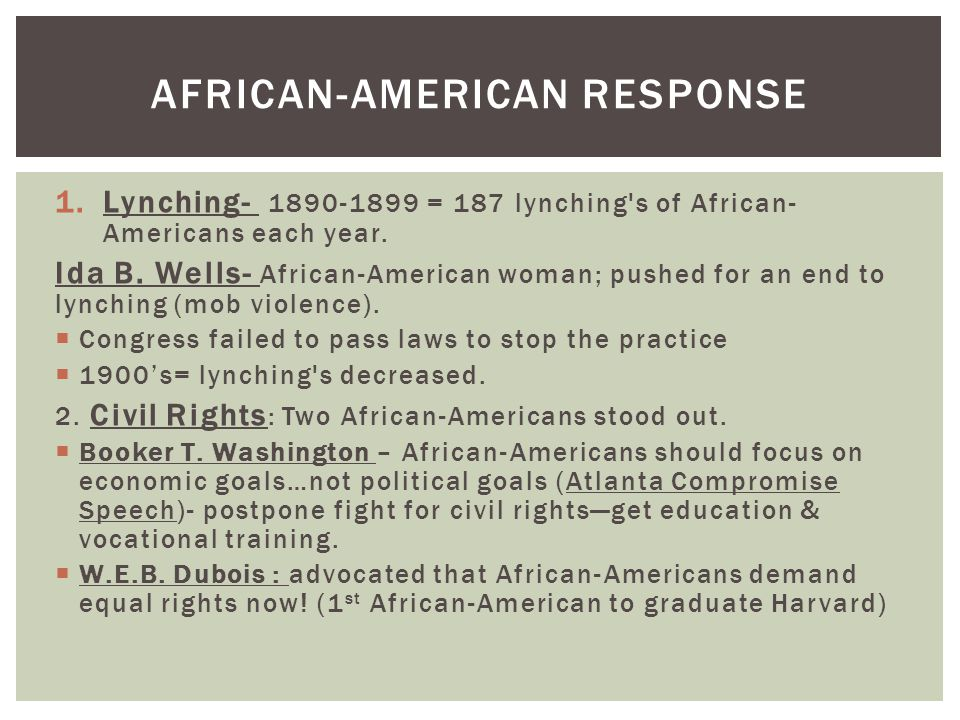 African-American Response